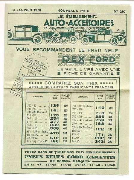Catalogue n210 1931 F